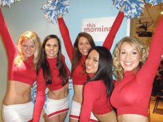 Zoo Fever Cheerleaders on This Morning! See video on http://www.londoncheerleaders.co.uk/#!videos
