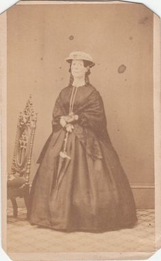 CDV Civil War Lady Day Dress Shawl by LangdonsListPhotos on Etsy, $2.00