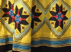 Seminole woman's outfit, detail