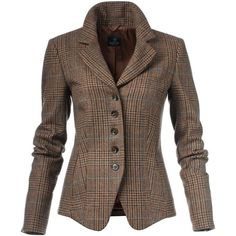 Checked blazer, pure new wool ❤ liked on Polyvore featuring outerwear, jackets, blazers, collar jacket, blazer jacket, short-sleeve blazers, slim fit blazer and short blazer jacket