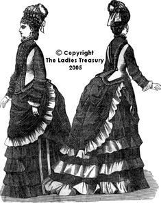 View of Lady's bodice with 'violin'-shaped seams, December 1874