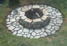 home depot outdoor fire pit - have a look at our creative ideas! Wood Fire Pit, Fire Pit Area, Landscaping With Rocks, Backyard Landscaping, Backyard Patio, Backyard Ideas, Fire Pit Essentials, Outside Fire Pits, Fire Pit Materials