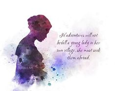 * Available sizes 10 x 8 Inches x x x For sale direct from the artist Original Art Print Jane Austen Quote illustration created with Mixed Media and a Contemporary Design If Adventures Will Not Befall a Painting Quotes, Art Prints Quotes, Art Quotes, Life Quotes, Quote Paintings, Hades Disney, Disney Art, Disney Princess Quotes, Disney Quotes