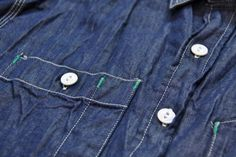 ENGINEERED GARMENTS WORK SHIRT DENIM SHIRTING INDIGO