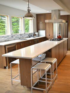 kitchen island/dining/bar - Caesarstone