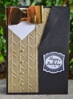 Fancy Male Birthday Card, Stampin' Up!, Envelope Punch Board, Label Something, Arrows Embossing Folder, Card Classes, Christie Kunkel