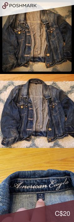 American eagle cropped Jean jacket American eagle cropped blue Jean jacket. Softer denim material. Gold hardware. American Eagle Outfitters Jackets & Coats Jean Jackets