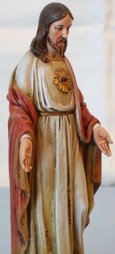 BEAUTIFUL SACRED HEART OF JESUS CATHOLIC STATUE - NIB