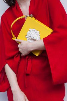 ANDRESGALLARDO Square Lion Bag Yellow