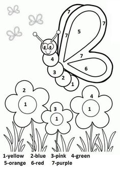 Spring Coloring Pages: Spring coloring sheets can actually help your kid learn more about the spring season. Here are top 25 spring coloring pages free Butterfly With Flowers Coloring Pages Silly Butterfly Coloring Page - Free Printable Coloring Book Page Coloring Worksheets For Kindergarten, Seasons Worksheets, Shapes Worksheet Kindergarten, Kindergarten Colors, Preschool Coloring Pages, Pre Kindergarten, Landforms Worksheet, Reading Worksheets, Free Worksheets