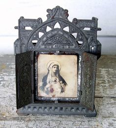 Antique Reliquary Frame Box