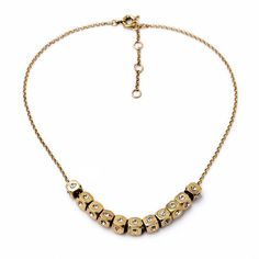 Cubic Bead Necklace Choker