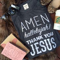 AMEN Hallelujah Thank You JESUS - ATX Mafia - In Stock $44