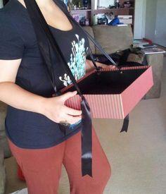 I thought it would be worth trying to use a pinterest board as a photographic DIY tutorial for this quick, simple and cheap usherette tray I made to use for selling charity items at our staff Christmas party.