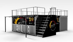 shipping container burger bar - Google Search