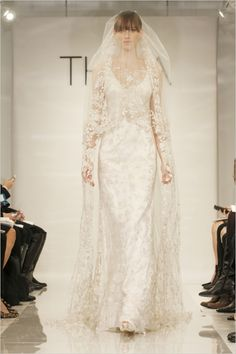 theia white fall 2014 cora gown http://www.weddingchicks.com/2013/12/25/theia-white-fall-2014/