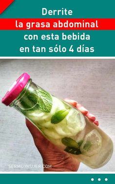 Derrite la grasa abdominal con esta bebida en tan sólo 4 días Running Diet, Abdominal Fat, Herbalife, Fresh Rolls, Natural Remedies, Smoothies, Detox, Lose Weight, Nutrition