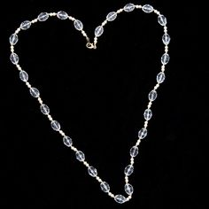 Vintage 60's Crystal & Pearl Necklace – PTB Chic