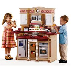 Classic Lifestyle Party Time Play Kitchen with 33 Piece Accessory Play Set, Red Play Kitchen Sets, Toy Kitchen, Stainless Steel Oven, Play Centre, Overhead Lighting, Play Food, Storage Baskets, Cool Toys, Party Time