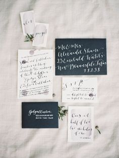 Modern Wedding Invitations with Calligraphy | photography by http://www.krystleakin.com/ | stationery designed by http://theweekendtype.com