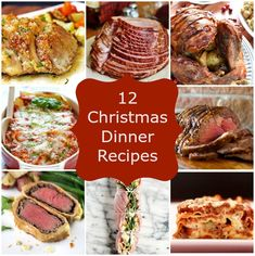 12 Christmas Dinner Recipes for your Christmas Dinner Menu! | www.stuckonsweet.com