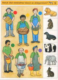 Welk voedsel is voor welke dieren? Free printable