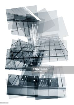 Abstract collage of a modern glass building Plans Architecture, Architecture Collage, Diagram Design, Glass Building, Building Photography, Inside Outside, Modern Glass, Photomontage, The Ordinary