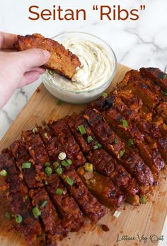 Vegan jackfruit ribs are simple to make and ideal for a vegan barbecue. Packed with protein, this vegan jackfruit rib recipe uses BBQ seitan as the inspiration for a delicious vegan BBQ dinner. #Vegan #VeganMeat #VeganRibs #VeganGrill #VeganGrilling #VeganBBQ #VeganBarbecue #Seitan #Jackfruit #Meatless #MeatFree #Vegetarian #VegetarianMeat #PlantBased #VeganProtein #PlantBasedProtein #Grill #Grilling #BBQ #Barbecue