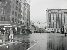 The 1955 flood in Reno. On the left is the Riverside