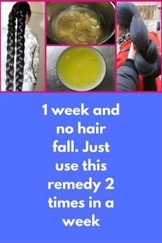 1 week and no hair fall. Just use this remedy 2 times in a week Today i am going to share an amazing anti hair fall treatment, use this just twice in a week and you can see amazing reduction in your hair fall For this remedy you will need Fenugreek seeds Coconut oil Preparation and Application: Take half cup of fenugreek seeds, if you have long hair you can …