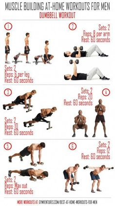 At-Home-Workouts-for-Men --- Dumbbell-Workout # devices belly fitness studio fitness . - At-home workouts-for-Men — Dumbbell Workout belly fitness studio Fitness DVDs for sale - Workout Plan For Men, Best At Home Workout, Ab Workout Men, Ab Workouts, At Home Workouts, Workout Plans, Gym Workouts For Men, Workout Routines, Workout Board