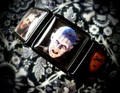 Modern Horror collage bracelet by LttleShopOfHorrors on Etsy, $13.00