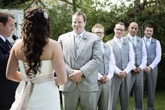 Exchanging Vows in a Outdoor Wedding Ceremony