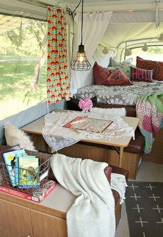 Camper Living Area- Stylish Vacation Spots to Inspire You this Summer- Mohawk Homescapes