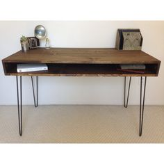Dimensions: 48L x 22W x 30H - Custom sizing available - Shoot us a message!    This desk is open on both sides and is made of pine lumber. You