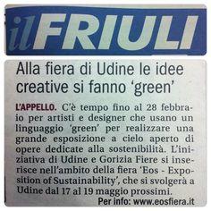 Alla Fiera di #Udine , #fvg , le idee creative si fanno #green  #eosfiera13