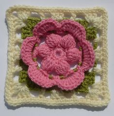 Ravelry: Flower in square pattern by Crochet- atelier
