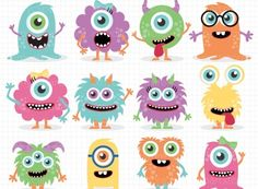 Clipart - Monster Friends | Meylah