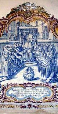 Mosteiro Tibaes, Portugal  -  azulejo