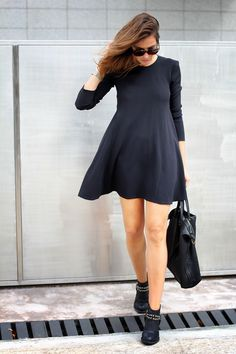 Black Zara dress, casual.