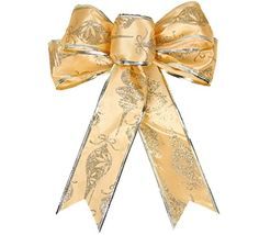 Km Christmas Decorations Bow Christmas Tree Pendant Golden >>> Find out more about the great product at the image link.
