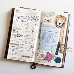 Midori Traveler's Notebook pages - gorgeous inspiration for keeping a travel journal. Ideas and techniques for keeping a sketchbook, art journal, or scrapbook while on the road Life Journal, Journal Diary, Journal Notebook, Journal Pages, Smash Book, Journaling, Midori, Journal Design, Travel Planner