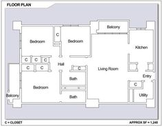 CFA Sasebo – Hario Village Tower: 3 bedroom apartment floor plan (Type D).