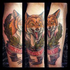#foxdevilswild #fuchsteufelswild #fuchstattoo #fuchstätowierung #foxtattoo #fox #fuchs #orange #paintitblack_bargteheide