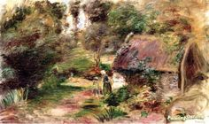 Landscape in the Woods Artwork by Pierre Auguste Renoir Hand-painted and Art Prints on canvas for sale,you can custom the size and frame