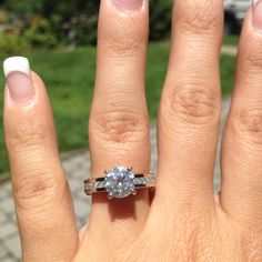 My Engagement ring! 2 carats (total weight) of diamonds channel set in platinum <3