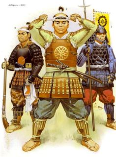 Ashigaru - Japanese Foot Soldiers employed by Samurai Nobles - 1600