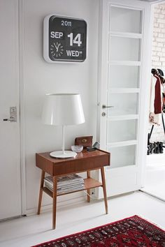 Clean retro decor- I love it!!   Top 10 calendars to kick off 2013 in style! | RONAMAG