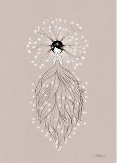 Illustration Enfant Nature Fairy Poster by Cathy Delanssay - Child Illustration Art And Illustration, Theme Nature, Inspiration Art, Fairy Art, Art Wall Kids, Easy Drawings, Pencil Drawings, Painting & Drawing, Cool Art