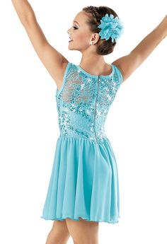 Sequin Lace Georgette Dress -Weissman Costumes like this for tues teens lyrical And ballet.